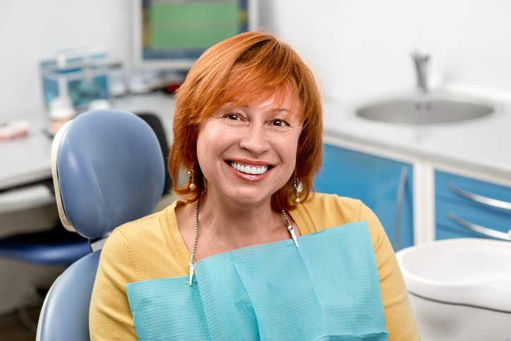 Woman at her first dental visit with Gary L. Glasband, DDS Dentistry